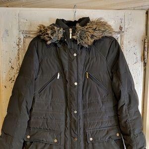 Jones New York dark green down puffer coat size L